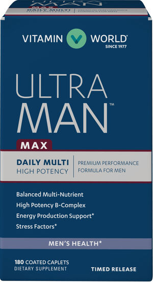 Vitamin World Ultra Man™ Max Daily Multivitamins 180 Caplets