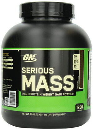 Optimum Nutrition Serious Mass Chocolate 6 lbs. 6 lbs. Powder