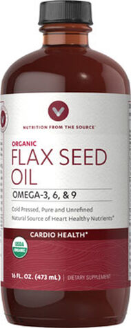 Vitamin World Flaxseed (Linseed) Oil 16 oz. Liquid