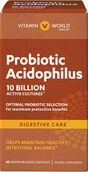 Vitamin World Maximum Acidophilus Probiotic Complex 10 billion 60 Capsules