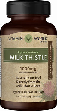 Vitamin World Milk Thistle 1000mg 180 Softgels 1000mg.