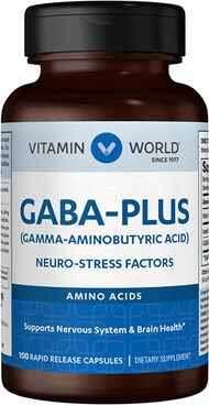 Vitamin World Gaba Plus Caps 100 Capsules