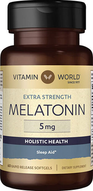 Vitamin World Melatonin 5 mg. 60 Softgels
