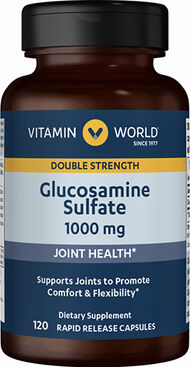 Vitamin World Glucosamine Sulfate 1000 mg. 120 Capsules
