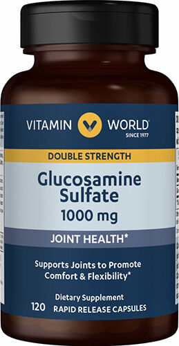 Vitamin World Glucosamine Sulfate 1,000mg 120 Capsules 1000mg.