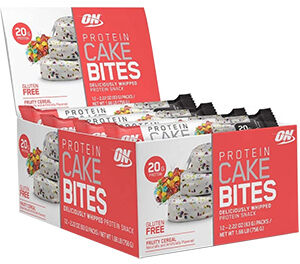 Optimum Nutrition Protein Cake Bites Fruity Cereal 12 Packs