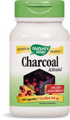 Nature's Way Activated Charcoal 280 mg. 100 Capsules