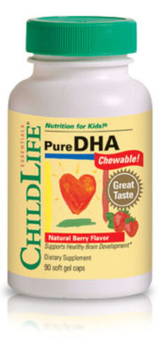 ChildLife Pure DHA for Kids 250 mg. 90 Softgels Berry