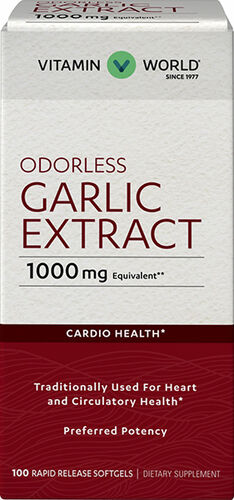Vitamin World Odorless Garlic Softgels 1,000mg.