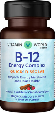 Vitamin World Vitamin B-12 Energy Complex Quick Dissolve 60 Tablets