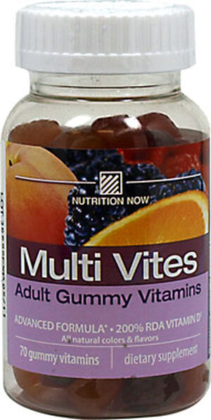 Nutrition Now Multi Vites Adult Gummy Vitamins 70 Gummies