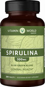 Vitamin World Spirulina Tablets 500 mg. 200 Tablets