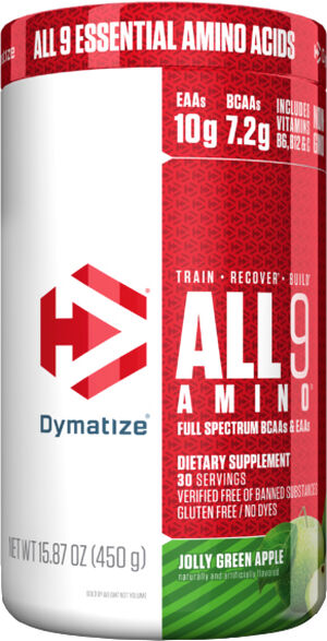 Dymatize All9 Amino™ Jolly Green Apple 15 oz. Powder