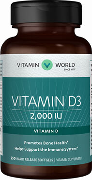 Vitamin D3 2000 IU, 250, hi-res
