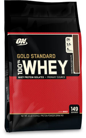 Optimum Nutrition Gold Standard 100% Whey Protein 10 lbs. Powder Double Rich Chocolate