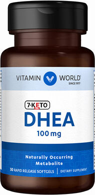 Vitamin World 7-Keto DHEA 100 mg. 30 Softgels