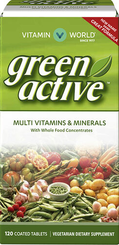 Vitamin World Green Active™ Multi Vitamins and Minerals  120 tablets