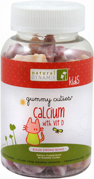 Natural Dynamix Gummy Cuties Calcium with Vitamin D 60 Gummies