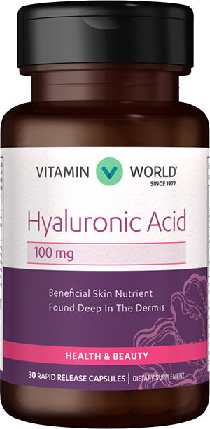 Vitamin World Hyaluronic Acid 100 mg. 30 Capsules