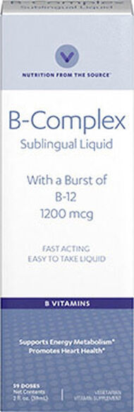 Vitamin World B-Complex Sublingual 2 oz. Liquid