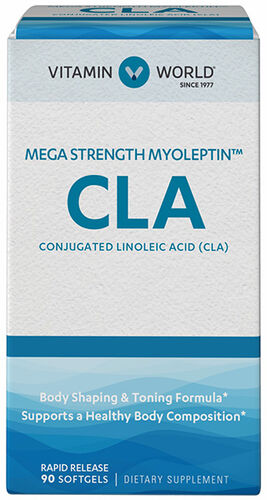 Vitamin World Mega Strength Myoleptin™ CLA 1500 mg. 90 Softgels 1500mg.