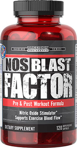 Precision Engineered® NOS Blast Factor Caps 120 Capsules