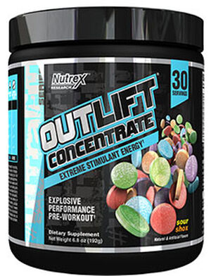 Nutrex® Outlift Concentrate Pre-workout Sour Shox 6.8 oz. 6.8 oz. Powder
