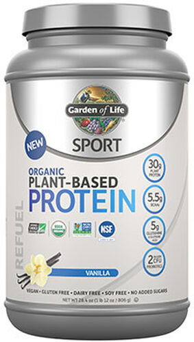 Garden Of Life Sport Organic Plant-Based Protein Vanilla 1.14 lbs. 1 lbs. Powder