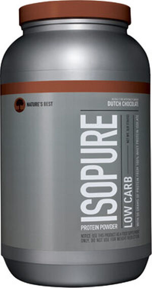 Isopure Low Carb Whey Protein Isolate 3 lbs. Powder Dutch Chocolate