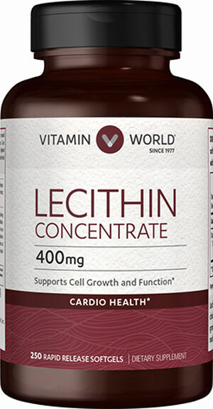 Vitamin World Lecithin Concentrate 400 mg. 250 Softgels