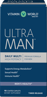 Vitamin World Ultra Man™ Daily Multivitamins 90 Caplets