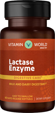 Vitamin World Lactase Enzyme 375 mg. 60 Softgels