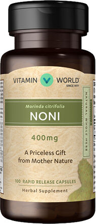 Vitamin World Noni 400 mg. 100 Capsules