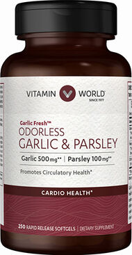 Vitamin World Odorless Garlic & Parsley 250 Softgels