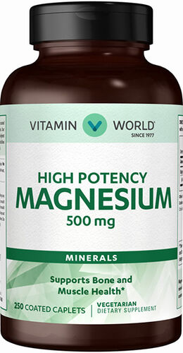 Vitamin World Magnesium 500 mg. Mineral Supplement