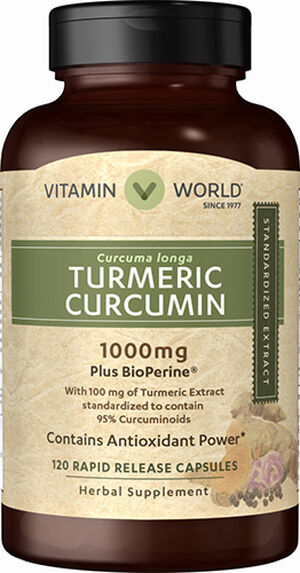 Vitamin World Turmeric Curcumin 1000mg 120 Capsules 1000mg.
