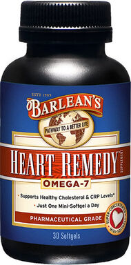 Barlean's Heart Remedy Omega 7 30 Softgels 420mg.