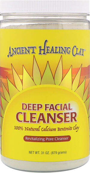 Living Clay Ancient Healing Calcium Bentonite Clay Deep Facial Cleanser