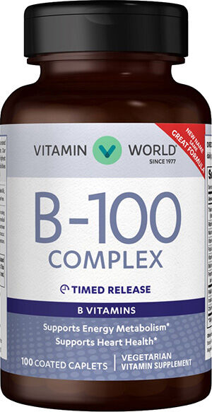 Vitamin World B-100 Complex Timed Release 100 caplets