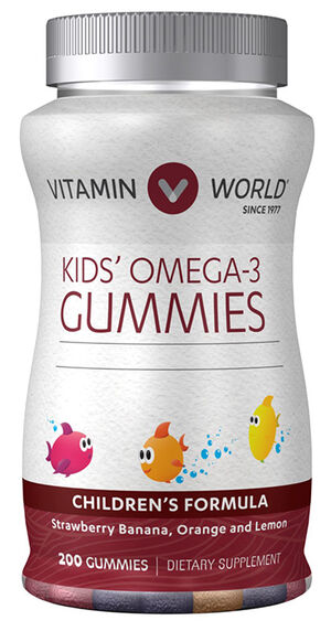 Vitamin World Kids' Omega-3 Gummies 200 Gummies