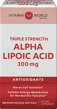 Vitamin World Alpha Lipoic Acid 300 mg. 120 Softgels