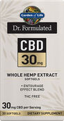 Garden of Life Dr. Formulated CBD 30mg Whole Hemp Extract Softgels