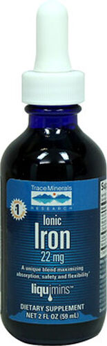 Trace Minerals Liquid Ionic Iron 22 mg. 2 oz. Liquid