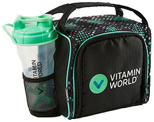 Vitamin World FitPak Meal Management Bag 1 Bag Black