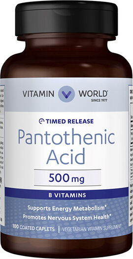 Pantothenic Acid (Vitamin B-5) 500mg