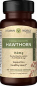 Vitamin World Hawthorn Berry Standardized Extract 150 mg. 100 Capsules Hawthornm Berry extract