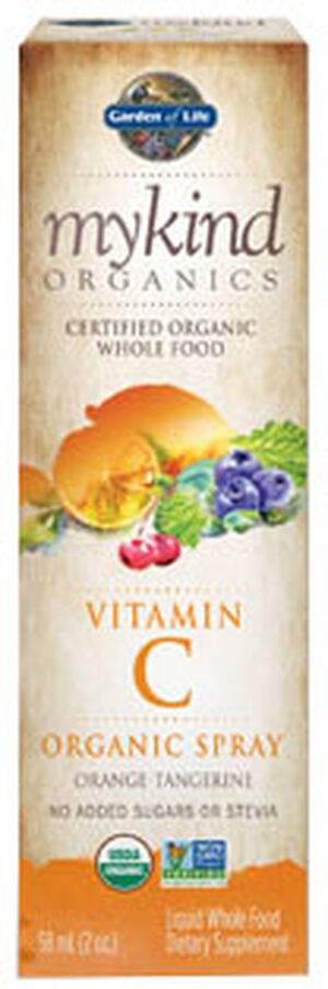 Garden Of Life mykind Organics Vitamin C Organic Spray 2 oz. Spray Orange-tangerine