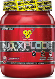 BSN N.O.-XPLODE® Preworkout Fruit Punch 2.45 lbs. 2 lbs. Powder