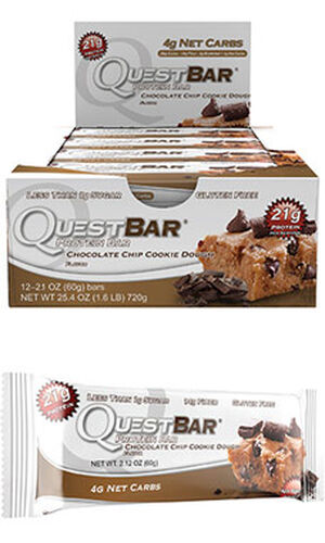 Quest Bars Chocolate Chip Cookie Dough, , hi-res