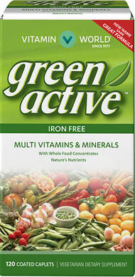 Vitamin World Green Source® Multivitamins and Minerals Iron Free 120 Caplets